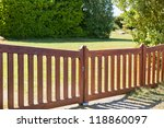 Country Wooden Gate Entry To...