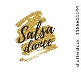 salsa dance vector logotype.... | Shutterstock .eps vector #1188601144