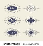 set of vintage sunbursts in... | Shutterstock .eps vector #1188603841