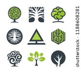 tree logo design graphics ... | Shutterstock .eps vector #1188608281