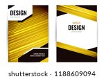 bright poster with light gold... | Shutterstock .eps vector #1188609094