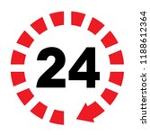 hour 4 button  24 7 hours icon... | Shutterstock .eps vector #1188612364