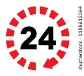 24 7 hours service flat sign ... | Shutterstock .eps vector #1188612364
