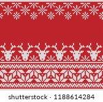 christmas sweater design. fair... | Shutterstock .eps vector #1188614284