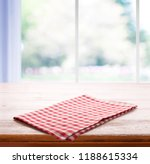 napkin and tablecloth on the... | Shutterstock . vector #1188615334