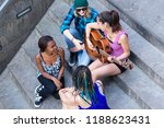 overhead view of woman playing... | Shutterstock . vector #1188623431