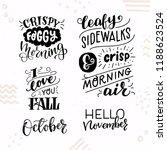 set of five inspirational... | Shutterstock .eps vector #1188623524