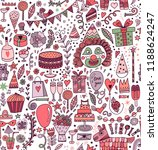 seamless pattern with party... | Shutterstock .eps vector #1188624247