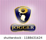 gold badge or emblem with... | Shutterstock .eps vector #1188631624