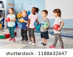 group of kids in the gym in the ... | Shutterstock . vector #1188632647