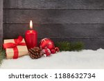 first christmas advent with red ... | Shutterstock . vector #1188632734