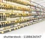 blurred abstract wine aisle... | Shutterstock . vector #1188636547