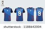 blue t shirt sport design... | Shutterstock .eps vector #1188642004