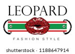 leopard t shirt graphic design  ... | Shutterstock .eps vector #1188647914
