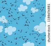 vector pattern with flock of... | Shutterstock .eps vector #1188656881