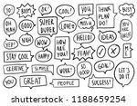 speech bubbles banner design | Shutterstock .eps vector #1188659254