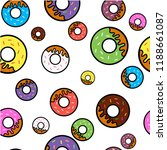 vector seamless pattern with... | Shutterstock .eps vector #1188661087