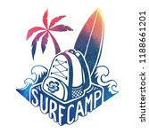 colored vector surfing camp... | Shutterstock .eps vector #1188661201