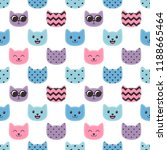 seamless pattern with colorful... | Shutterstock .eps vector #1188665464