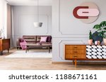 plants on wooden cupboard in... | Shutterstock . vector #1188671161