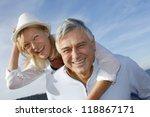 portrait of cheerful senior... | Shutterstock . vector #118867171