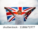man holding proudly the british ... | Shutterstock . vector #1188671977