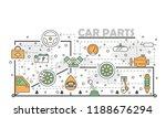 car parts poster banner...   Shutterstock .eps vector #1188676294