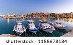 crete heraklion greece port... | Shutterstock . vector #1188678184