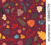 autumn forest vector pattern...   Shutterstock .eps vector #1188681754