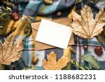 fall mockup card with autumn... | Shutterstock . vector #1188682231