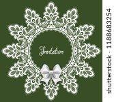 wedding card or invitation... | Shutterstock .eps vector #1188683254