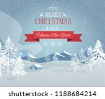 merry christmas and happy new... | Shutterstock .eps vector #1188684214