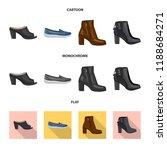vector design of footwear and... | Shutterstock .eps vector #1188684271