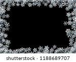 christmas snowflakes scattered... | Shutterstock .eps vector #1188689707