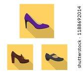 vector design of footwear and... | Shutterstock .eps vector #1188692014