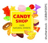 lollipop candy shop concept...   Shutterstock . vector #1188693091