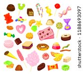 candy icon set. cartoon set of... | Shutterstock . vector #1188693097