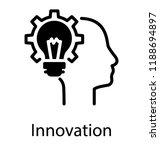 glyph design of sparkling bulb... | Shutterstock .eps vector #1188694897
