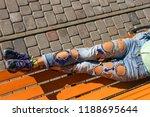 street fashion  woman in grunge ... | Shutterstock . vector #1188695644