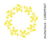 ginkgo leaves frame on white...   Shutterstock .eps vector #1188699367
