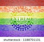 extreme emblem on mosaic... | Shutterstock .eps vector #1188701131