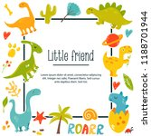 dinos poster with bright... | Shutterstock .eps vector #1188701944