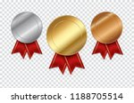 set of empty medals gold silver ... | Shutterstock .eps vector #1188705514