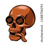 trendy bones. vector hand drawn ... | Shutterstock .eps vector #1188706291