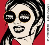 cool mood. vector hand drawn... | Shutterstock .eps vector #1188706297