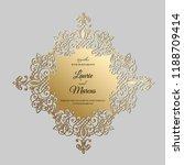 wedding invitation vintage.... | Shutterstock .eps vector #1188709414