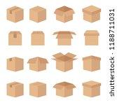 set of abstract box vector line ... | Shutterstock .eps vector #1188711031