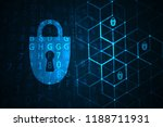 cyber security illustration.... | Shutterstock . vector #1188711931