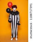 ugly clown man 20s wearing...   Shutterstock . vector #1188717391