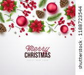merry christmas background.... | Shutterstock .eps vector #1188723544